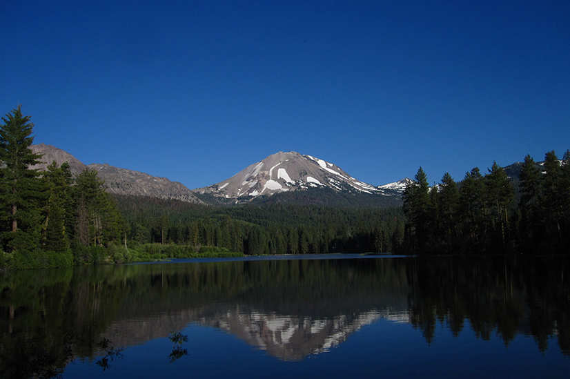 Reflection Lake and Lassen Peak